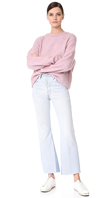 RE/DONE x Levi's High Rise Crop Flare Jeans
