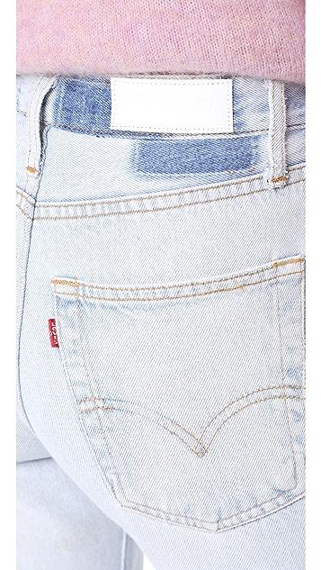 RE/DONE Укороченные расклешенные джинсы x Levi's с высокой посадкой