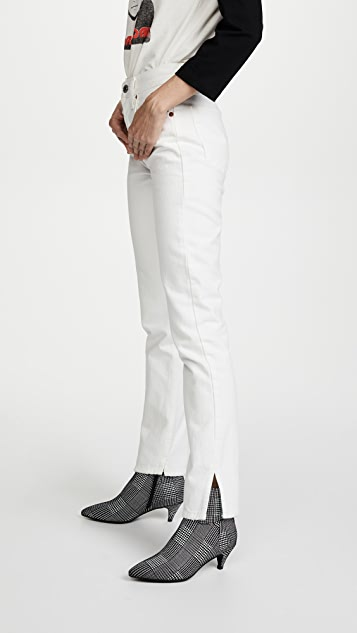 RE/DONE High Rise Straight Jeans with Slits