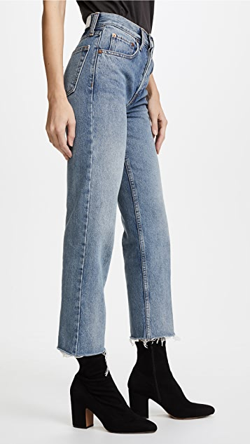 RE/DONE Stovepipe Crop Jeans