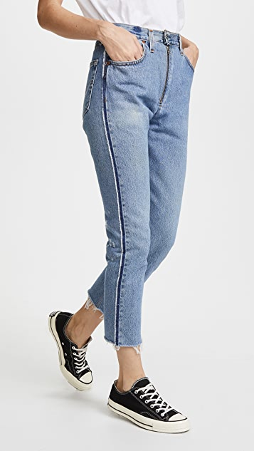 221c836e9c530 RE DONE x Levi s High Rise Relaxed Zip Crop Jeans