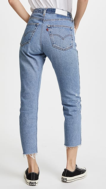 RE/DONE x Levi's High Rise Relaxed Zip Crop Jeans