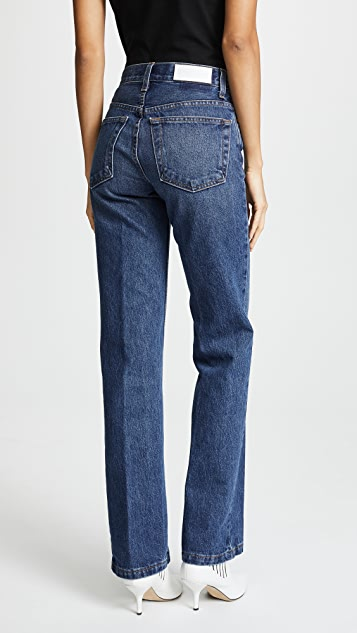 RE/DONE High Rise Medium Flare Jeans