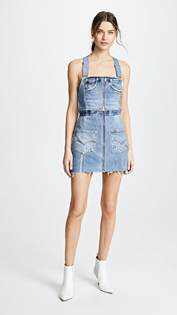 4d2cdd60b7 RE DONE Overall Denim Dress