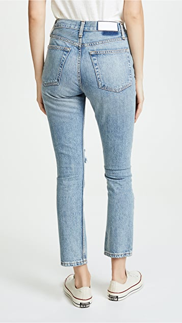 RE/DONE High Rise Straight Jeans