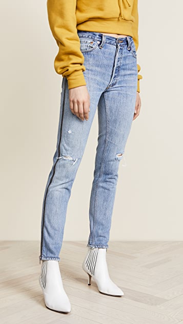 3a8c9b69b375a RE DONE Levis High Rise Ankle Crop Zip Jeans