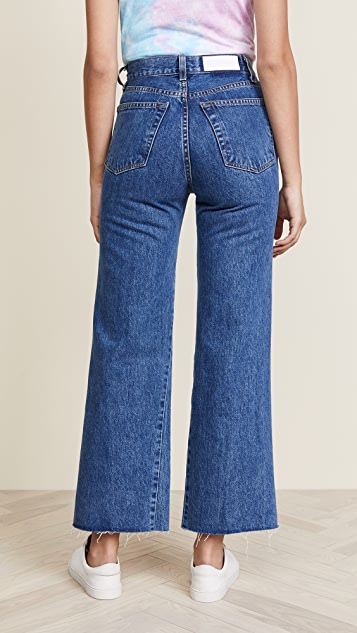 RE/DONE Wide Leg Cropped Jeans