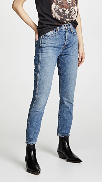 Double Needle Crop Jeans by Re/Done
