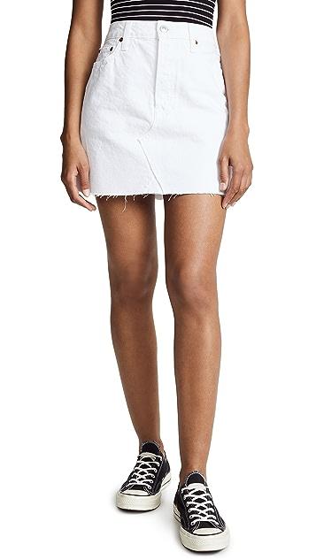 RE/DONE High Waisted Miniskirt