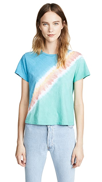 RE/DONE The Classic Tee in Freedom Tie Dye