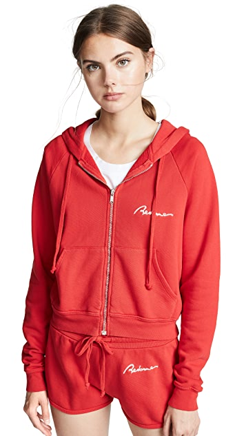 RE/DONE Zip Hoodie With Chain Stitch
