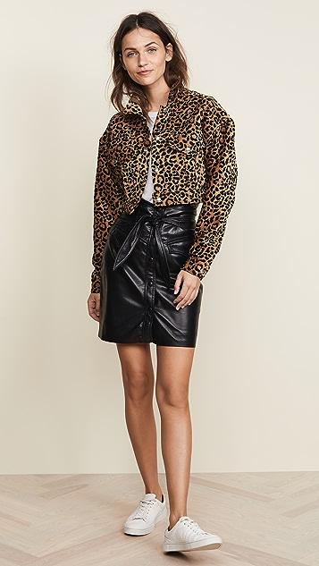RE/DONE Leopard Cropped Jacket