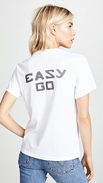 RE/DONE Girlfriend Tee with Easy Graphic