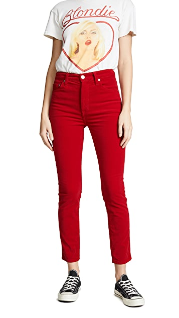 RE/DONE Velvet High Rise Crop Jeans