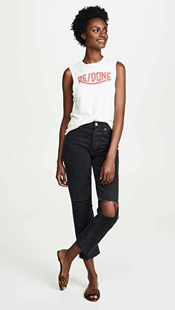 RE/DONE Logo Muscle Tank Top