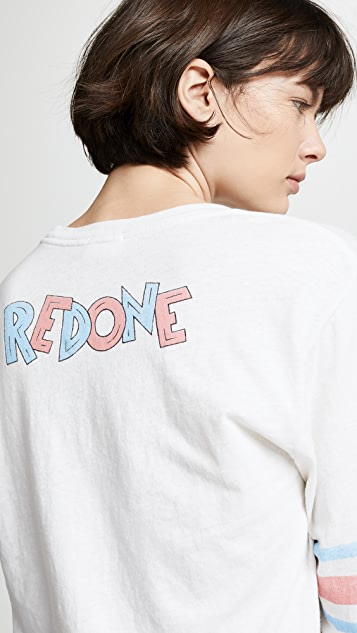 RE/DONE RE/DONE Logo Long Sleeve Tee