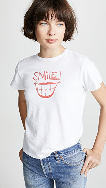 RE/DONE Smile Classic Tee
