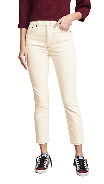 RE/DONE High Rise Ankle Crop Pants