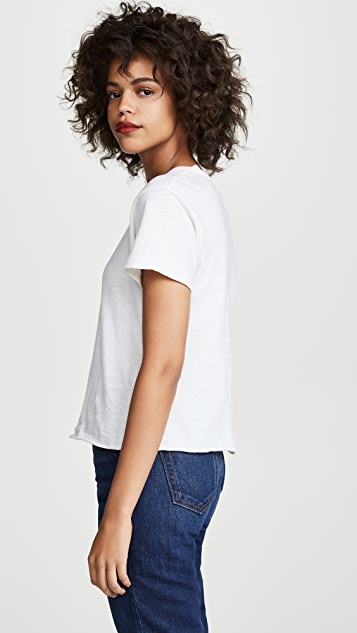 RE/DONE Keep On Marchin Classic Raw Tee
