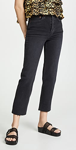 RE/DONE - High Rise Stovepipe Jeans