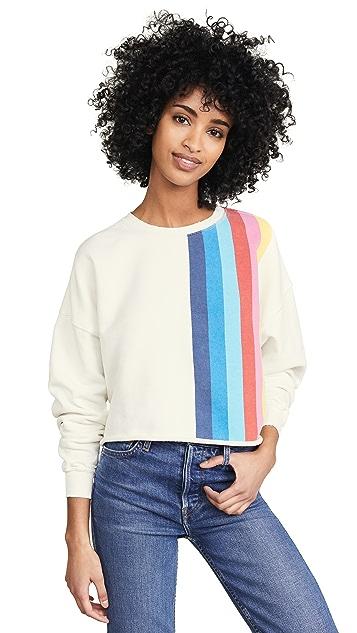 RE/DONE Crew Neck Sweatshirt with Stripes