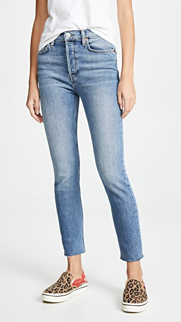 RE/DONE High Rise Ankle Jeans