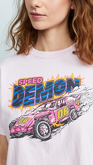 RE/DONE Speed Demon Boyfriend Tee
