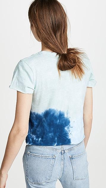 RE/DONE Классическая футболка с закатанным нижним краем