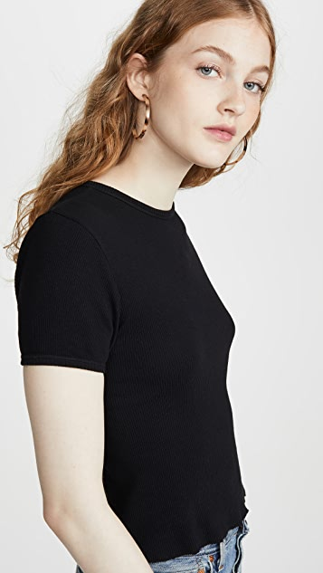 RE/DONE 90's Ribbed Cap Sleeve Tee