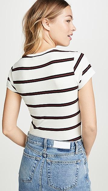 RE/DONE Облегающее боди в виде футболки с трусиками-танга в стиле 60-х гг.