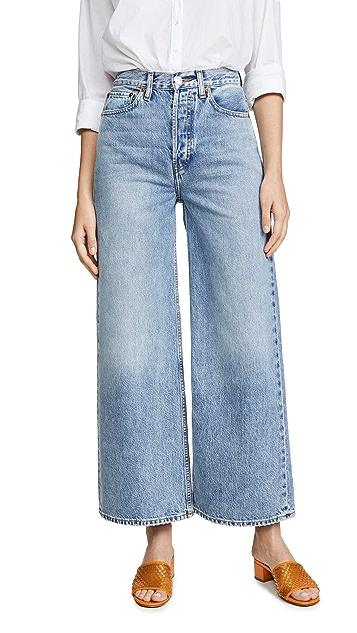 RE/DONE Очень широкие джинсы с очень высокой посадкой в стиле 1960-х гг.