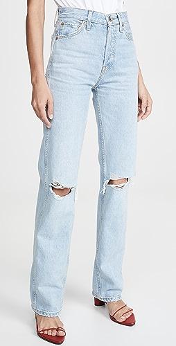 RE/DONE - 高腰宽松牛仔裤