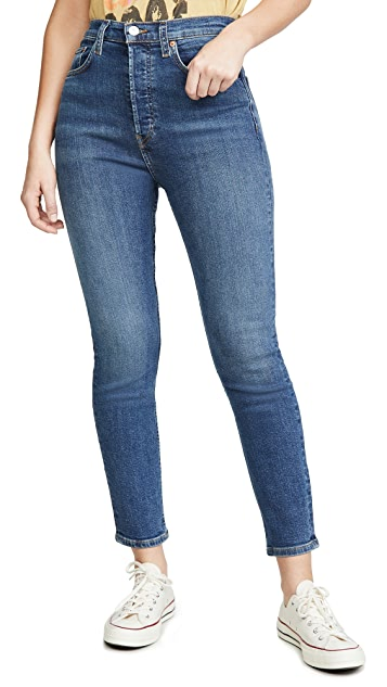 RE/DONE Ultra High Rise Crop Jeans