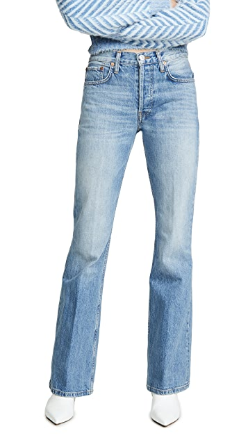 RE/DONE High Break Flare Jeans