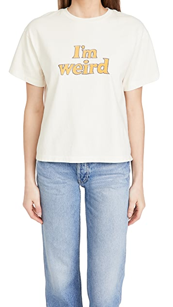 "RE/DONE 90s Oversized Tee ""I'm Weird"""