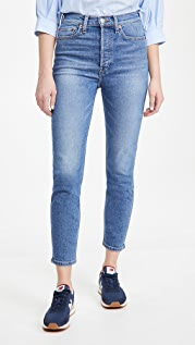 RE/DONE 90's High Rise Ankle Crop Jeans