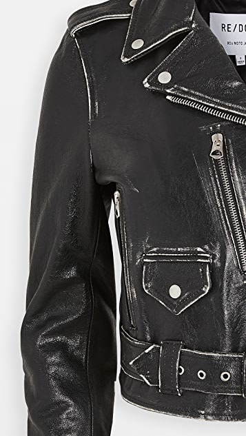 RE/DONE Leather Moto Jacket