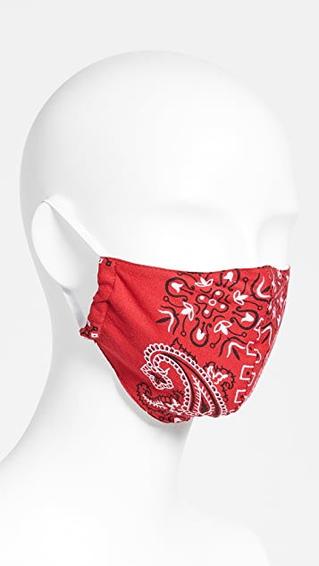 RE/DONE Upcycled Bandana Face Covering