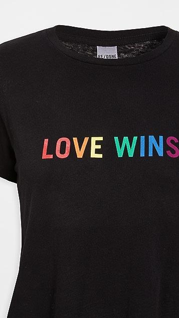 "RE/DONE ""Love Wins""经典 T 恤"