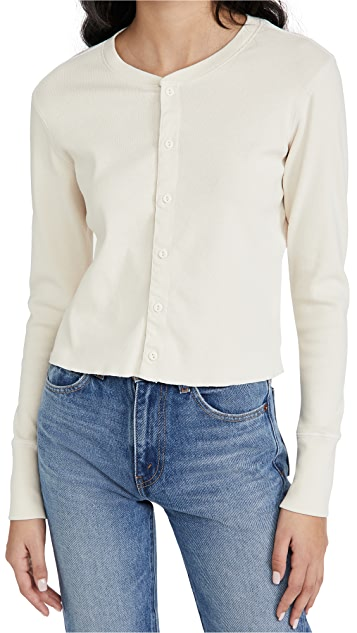 RE/DONE 50s Cropped Button Top