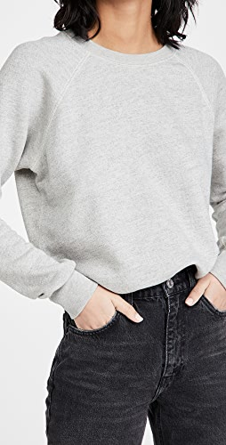 RE/DONE - Classic Raglan Crew Neck Sweatshirt