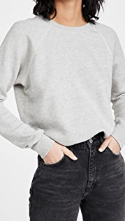RE/DONE Classic Raglan Crew Neck Sweatshirt
