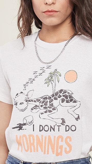 RE/DONE 70s I Don't Do Mornings 宽松 T 恤