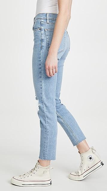 RE/DONE 90s 高腰九分中长牛仔裤