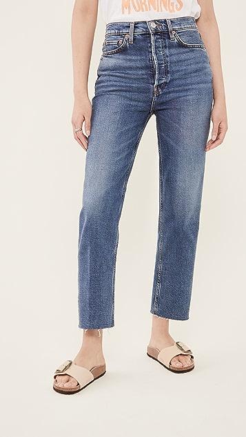 RE/DONE 70s 超高腰烟管牛仔裤