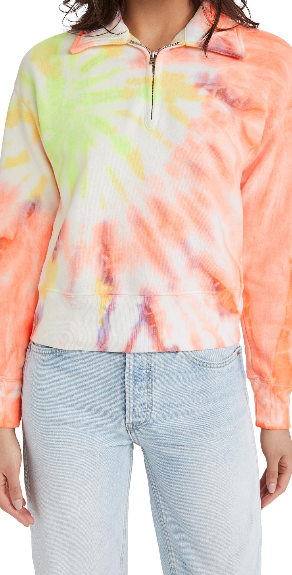 Re/done Sweatshirts 70S HALF ZIP PULLOVER