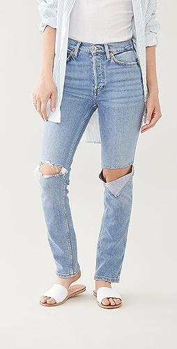 RE/DONE - 80 年代复古风格直脚牛仔裤