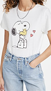 RE/DONE Snoopy & Woodstock Love Classic Tee