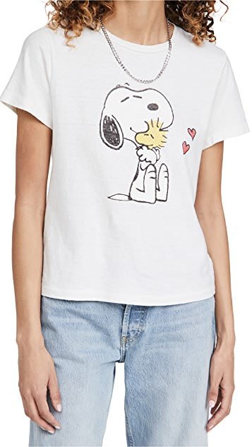 RE/DONE Snoopy & Woodstock Love 经典 T 恤