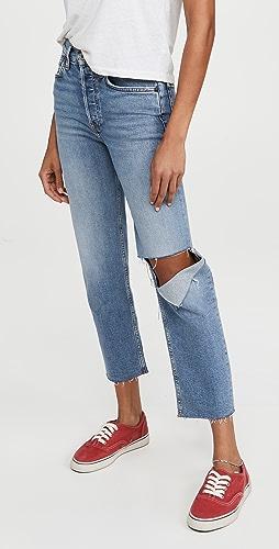 RE/DONE - 高腰烟管牛仔裤